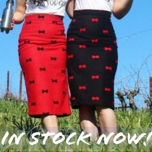🆕️ PinUp Style Pencil Skirts with bow print